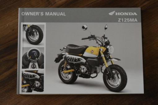 00X32-K0F-E010 Z125MA HONDA OWNER'S MANUAL