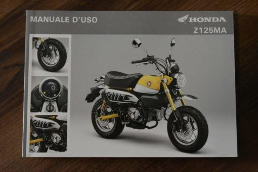 00X3L-K0F-E010 Z125MA HONDA MANUALE D'USO