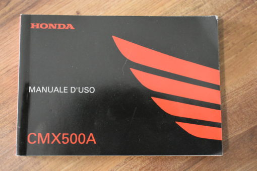 00X3L-MKG-A010 CMX500A HONDA MANUALE D'USO