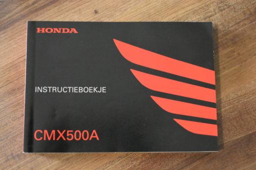 00X39-MKG-A010 CMX500A HONDA INSTRUCTIEBOEKJE