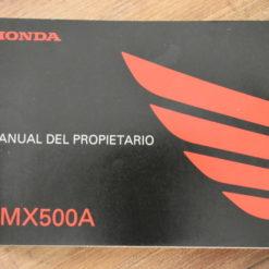 00X35-MKG-A010 CMX500A HONDA MANUAL DEL PROPIETARIO