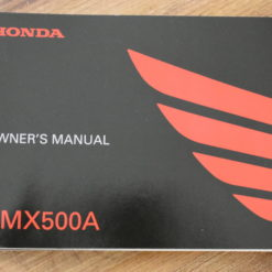 00X32-MKG-A010 CMX500A HONDA OWNER'S MANUAL