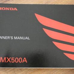 00X32-MKG-A010 CMX500A HONDA OWNER'S MANUAL