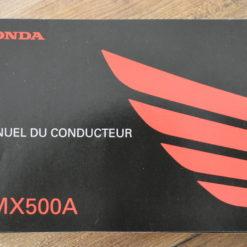 00X33-MKG-B010 CMX500A HONDA MANUEL DU CONDUCTEUR