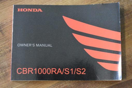 00X32-MKF-6010 CBR1000RA/S1/S2 HONDA OWNER'S MANUAL