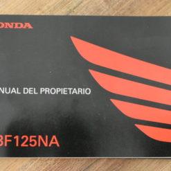 00X35-K98-B000 CBF125NA HONDA MANUAL DEL PROPIETARIO
