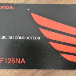 00X33-K98-B000 CBF125NA HONDA MANUEL DU CONDUCTEUR