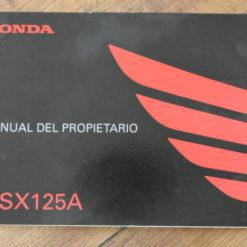 00X35-K26-B210 MSX125A HONDA MANUAL DEL PROPIETARIO