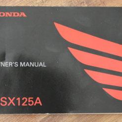 00X32-K26-B210 MSX125A HONDA OWNER'S MANUAL