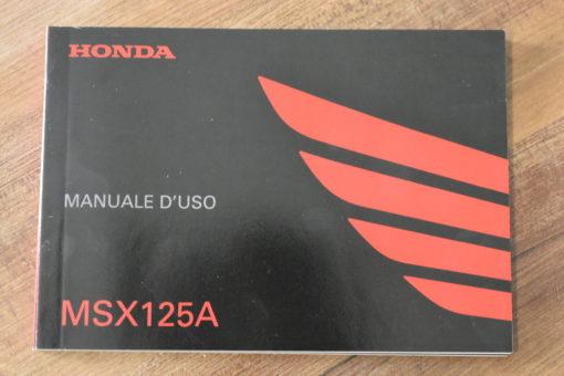 00X3L-K26-B210 MSX125A HONDA MANUALE D'USO
