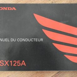 00X33-K26-B210 MSX125A HONDA MANUEL DU CONDUCTEUR