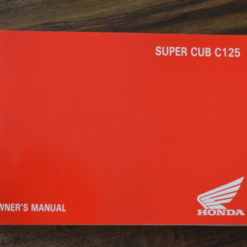 00X32-K0G-C000 SUPER CUB C125 HONDA OWNER'S MANUAL