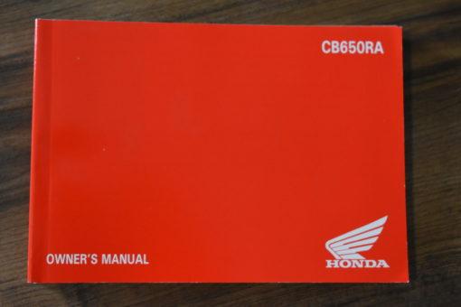 00X42-MKN-A000 CB650RA HONDA OWNER'S MANUAL
