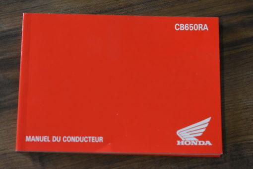 00X43-MKN-A000 CB650RA HONDA MANUEL DU CONDUCTEUR