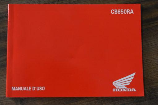 00X4L-MKN-A000 CB650RA HONDA MANUALE D'USO