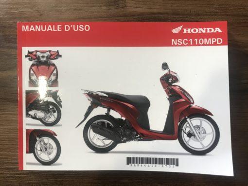 00X3L-K44-L100 NSC110MPD HONDA MANUALE D'USO
