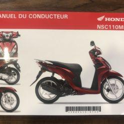 00X33-K44-L100 NSC110MPD HONDA MANUEL DU CONDUCTEUR
