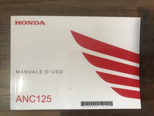00X3L-K29-B210 ANC125 HONDA MANUALE D'USO