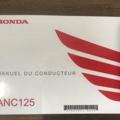 00X33-K29-B210 ANC125 HONDA MANUEL DU CONDUCTEUR