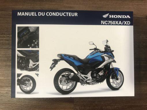 00X43-MKL-8000 NC750XA/XD HONDA MANUEL DU CONDUCTEUR