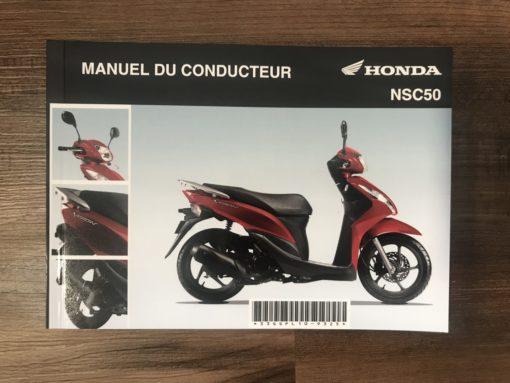 33GGPL10 NSC50 HONDA MANUEL DU CONDUCTEUR