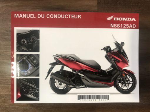 00X33-K40-L220 NSS125AD HONDA MANUEL DU CONDUCTEUR