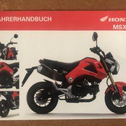 00X34-K26-B000 MSX125 HONDA FAHRENHANBUCH