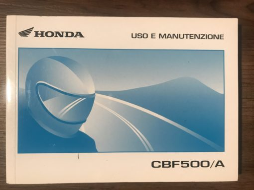 39META10 CBF500/A HONDA USO E MANUTENZIONE
