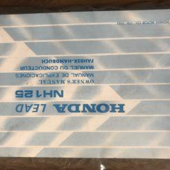 00X36-KG8-6110 NH125 LEAD HONDA MANUAL/MANUEL/FAHRER-HANDBUCH