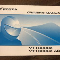 00X32-MFR-6000 VT1300CX/VT1300CX ABS HONDA OWNER'S MANUAL