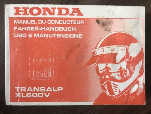 00X37-MS6-8200 XL600V TRANSALP HONDA MANUEL/FAHRER-HANDBUCH/MANUTENZIONE