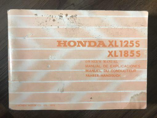 3643701 XL125S/XL185S HONDA MANUAL/MANUEL/FAHRER-HANDBUCH