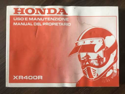 00X38-KCY-6000 XR400R HONDA MANUTENZIONE/MANUAL DEL PROPIETARIO