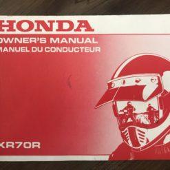 00X32-GCF-6000 XR70R HONDA MANUAL/MANUEL