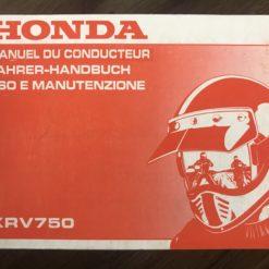 00X37-MV1-8100 XRV750 HONDA MANUEL/FAHRER-HANDBUCH/MANUTENZIONE