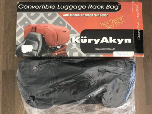 KuryAkyn 4154 LUGGAGE BAG WITH RAIN COVER (Black)