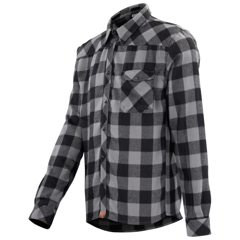 Escapee Flannel schwarz-anthrazit XXL